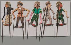 Shadow Puppet (Wayang Kulit) of European Army Officer, from set Wayang Perjuangan or Wayang Revolusi