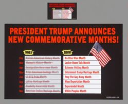 Trump Announces New Commemorative Months, from the Guerrilla Girls' Portfolio Compleat 2012–2016 Upgrade