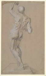 Nude Male (recto); Male Figure in Profile (verso)