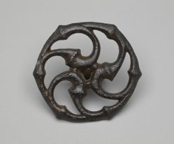 Roman bronze phalaron (openwork baldric fastener)