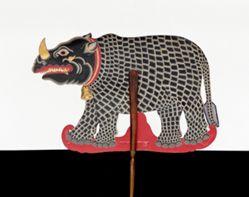 Shadow Puppet (Wayang Kulit) of Badak, from the consecrated set Kyai Nugroho