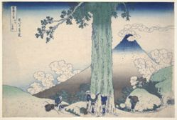 Mt. Fuji Seen from Mishima Pass, from the series Thirty-six Views of Mt. Fuji