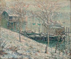 Harlem River Winter Scene