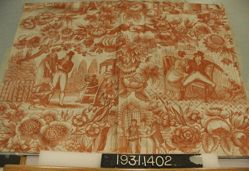 "Length of printed linen, ""Courtship and Marriage"""