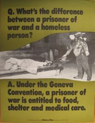 What's the difference between a prisoner of war and a homeless person?, from the Guerrilla Girls' Compleat 1985-2008