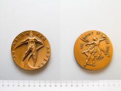 Bronze medal from the Society of Medalists 67th issue, 1963