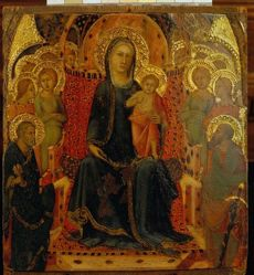 The Virgin and Child Enthroned with Saints Peter and Paul and Ten Angels