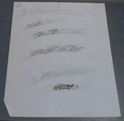 Drawing of Floral Borders