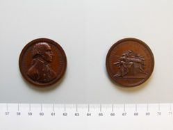 """Mint reproduction in bronze of medal commemorating the retirement of George Washington (""""Sansom medal"""")"""