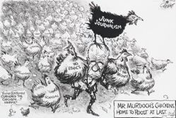 Mr. Murdoch's Chickens, Home to Roost at Last