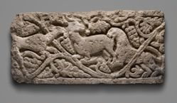 Relief fragment depicting animals