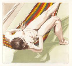 Nude on Striped Hammock