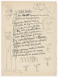 Soneto funebre (Funerary Sonnet), from Vingt Poèmes Louis de Gongora y Argote (Twenty Poems)