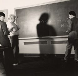Albert Einstein and Colleagues Testing Equations, Princeton