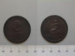 Wellington One Penny Token Lacking Iberian Battle Names