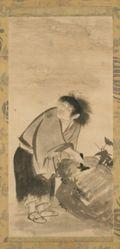 Kanzan and Jittoku (Chinese: Hanshan and Shide)