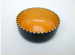 "Pair of salad bowls, ""Drum Papaya"" pattern"