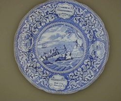 """Plate, """"The Landing of the Fathers at Plymouth"""""""