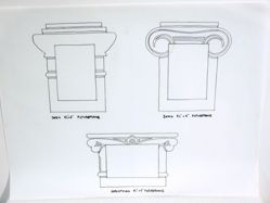 Greek Column picture frames