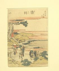 Fukuroi Station, from the series Designs of the Fifty-three Stations of the Tokaido