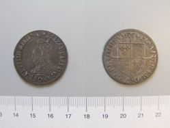 Silver shilling of Elizabeth I from London