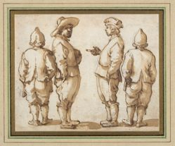 Four Standing Youths
