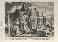 Reynofia, on eof 24 prints from the series Solitudo Sive Vitae Foeminarum Anachoritarum (Female Hermits in Landscapes)
