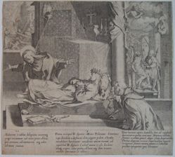 Plate 7, from the series, Life and Miracles of Saint Catherine of Siena