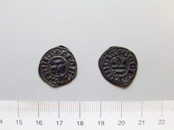 Billon denier of Florent of Hainaut from Thebes