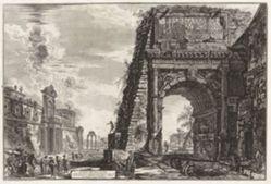 Veduta dell'Arco di Tito (View of the Arch of Titus [with the Villa Farnese to the left]), from Vedute di Roma (Views of Rome)