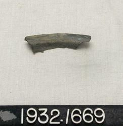 Bronze Dish Fragment