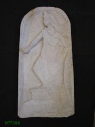 Votive relief of Ceres / Demeter; probably modern forgery