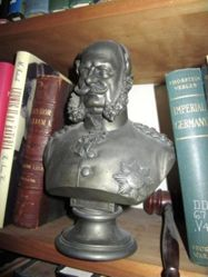 Portrait bust of uniformed Emperor William I