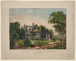 The Home of Florence Nightingale. Lea Hurst, Derbyshire, England