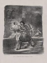 Méphistophélès et Faust fuyant après le duel (Mephistopheles and Faust Fleeing After the Duel), from Johann Wolfgang von Goethe's Faust