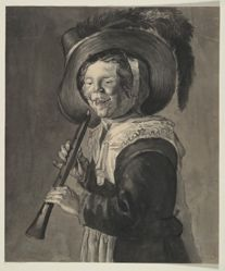 Laughing Girl with Pipe