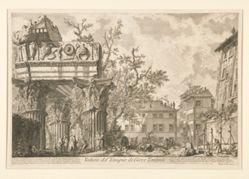 Veduta del Tempio di Giove Tonante (View of the Temple of Jupiter Tonans [the Thunderer]), from Vedute di Roma