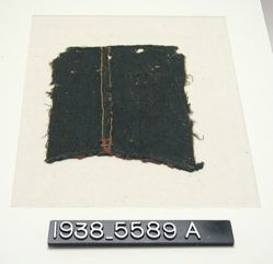 Textile, fragments of green twill