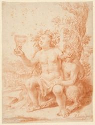 Bacchus and Satyr