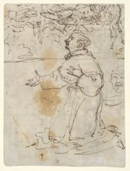 Kneeling Saint and other sketches