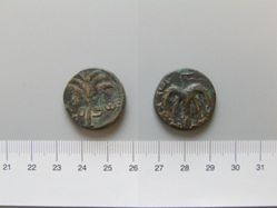 Copper Coin of the Second Jewish Revolt from Jerusalem