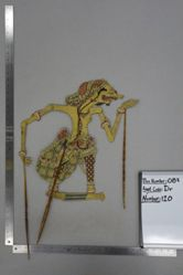 Shadow Puppet (Wayang Kulit) of Sengkuni, from the set Kyai Drajat