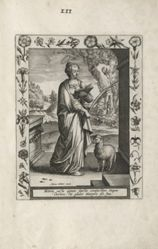 Saint Agnes, 1 of 25 plates in the series Martyrologium Sanctarum Virginum (Female Martyr Saints)