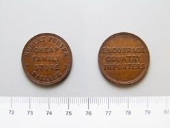 Bronze Medal from the United States of Robert Purves Wallace Cheap Family Store