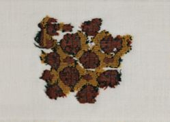 Wool Textile Fragments with Colored Pattern.