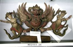 Garuda with two Heavenly Beings (Apsara)