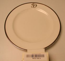 Silver Mounted Crystal Dinner plates