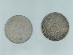 Coin of Charles III (Spanish king, 1759-1788)