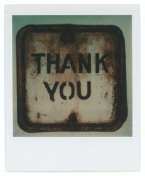 "Untitled [Framed Metal Sign: ""Thank You""]"