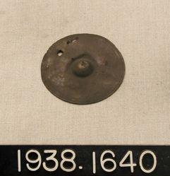 Large Bronze Disc (shield-shaped baldric fastener)